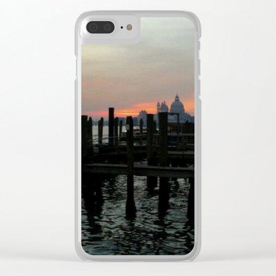 Winter Sunrise In Venice Clear iPhone Case