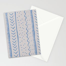Moroccan Stripe in Cobalt Stationery Cards