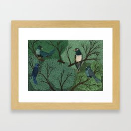 Blue Birds Framed Art Print