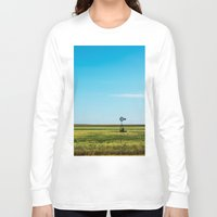 kansas Long Sleeve T-shirts featuring Kansas Skyline by Marie Apel