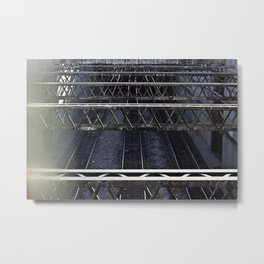 Rails Metal Print