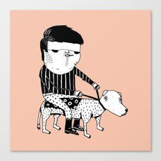 Jack the Dog Rider Canvas Print