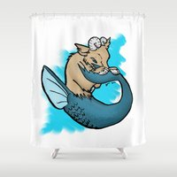 butcher billy Shower Curtains featuring Billy of the Sea by IowaShots