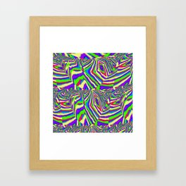Diamond Stripes Framed Art Print