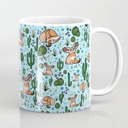 Cute Desert and Fennec Fox Pattern Coffee Mug