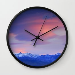 Lenticular clouds over Sierra Nevada National Park Wall Clock