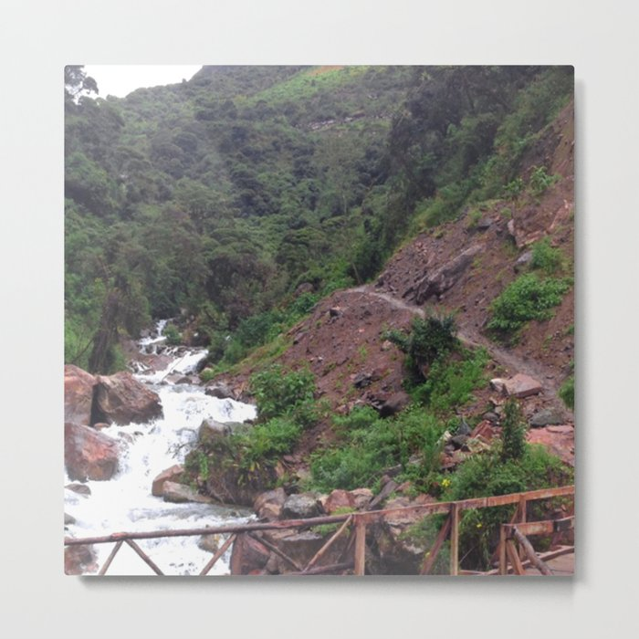Alpine Bridge Adventure Metal Print