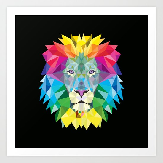 High Color Lion  Art Print