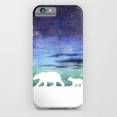 Aurora borealis and polar bears (white version) iPhone 6s Slim Case