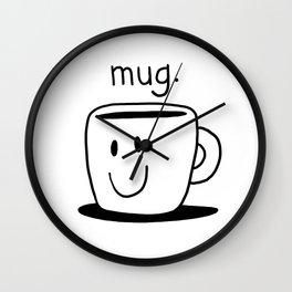 mug. Wall Clock