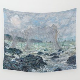 Fishing Nets at Pourville by Claude Monet Wall Tapestry