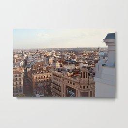 City of Madrid Metal Print