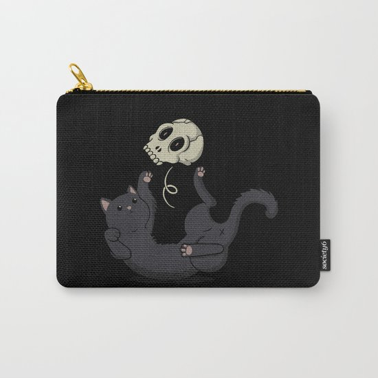 Skull Black Cat Carry-All Pouch