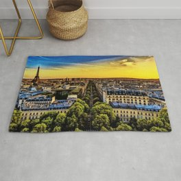 Eiffel Tower Paris City Landscape Rug