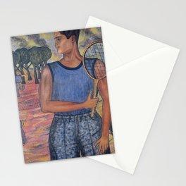 Angel Zarraga (Mexican 1886-1946) Portrait of Hugo Tilghman [The Tennis Player] (1924) Stationery Cards