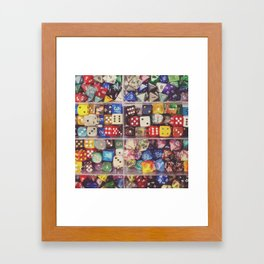 Colorful Dice Framed Art Print