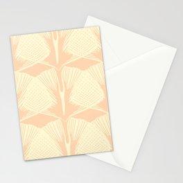 ginkgo leaf pattern in vintage pink Stationery Cards