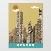 denver Canvas Prints featuring Denver by bri.buckley
