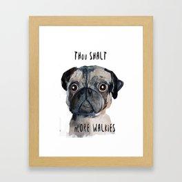 Demanding Doggie Framed Art Print