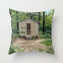 Pinewoods Cabin Throw Pillow
