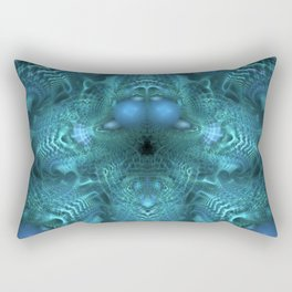 Juju Blue Rectangular Pillow