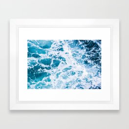 Perfect Ocean Sea Waves Framed Art Print