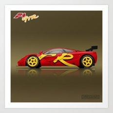 1996 McLaren F1 GTR #10R - Presentation Art Print