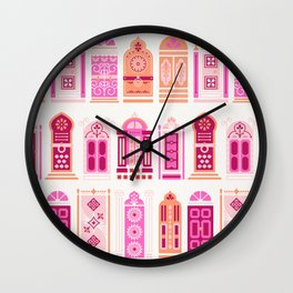 Moroccan Doors – Peach Palette Wall Clock