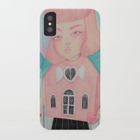 loll3 iPhone & iPod Cases featuring Dollhouse by lOll3