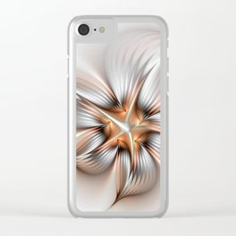 Elegance of a Flower, modern Fractal Art Clear iPhone Case