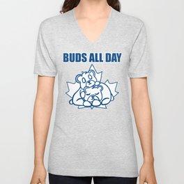 Buds All Day Unisex V-Neck