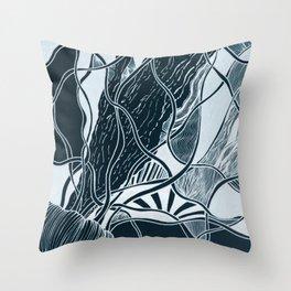 Subtle Seas Throw Pillow