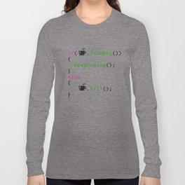 Coffee - coding syntax Long Sleeve T-shirt