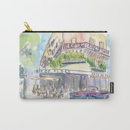 Paris Street Scene Romantic Cafe Carry-All Pouch