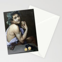 Young Sick Bacchus - Caravaggio Stationery Cards