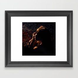 Girl in Shadows Framed Art Print