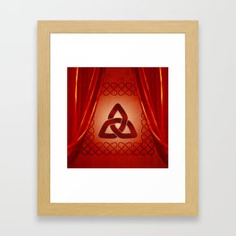 Wonderful celtic knot in red colors Framed Art Print