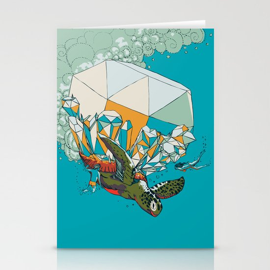 TURTLE& THE DIAMONDS Stationery Cards