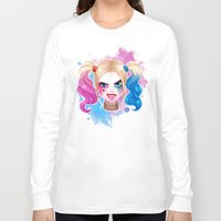 harley Long Sleeve T-shirts featuring Suicide Harley by Awdrey