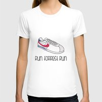 forrest gump T-shirts featuring Run Forrest Run by andresbruno
