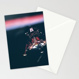 Onboard Apollo 11 Eagle prior to descent to the moon Stationery Cards