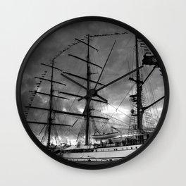 Portuguese tall ship Wall Clock