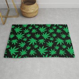 Weed Leaf Pattern  Rug