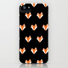 The Fox - Tiled iPhone Case