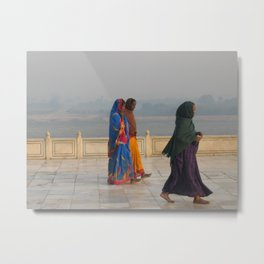 Taj Mahal Pilgrims in Agra, India (2004d) Metal Print