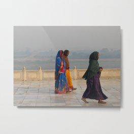 Taj Mahal Pilgrims in Agra, India (2004d) Metal Print