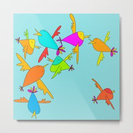 Happy birds Metal Print