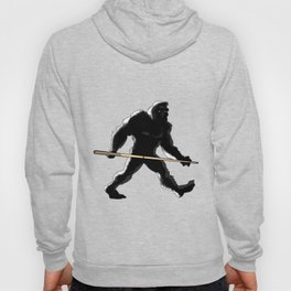 Billiards Sasquatch Holding Pool Stick Funny Print Hoody