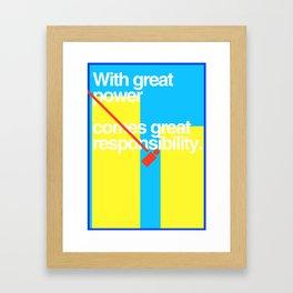 Minimal Superhero Poster Framed Art Print