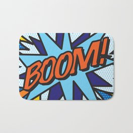 Comic Book BOOM! Bath Mat